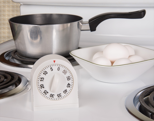 Kitchen tools for boiling eggs on stove